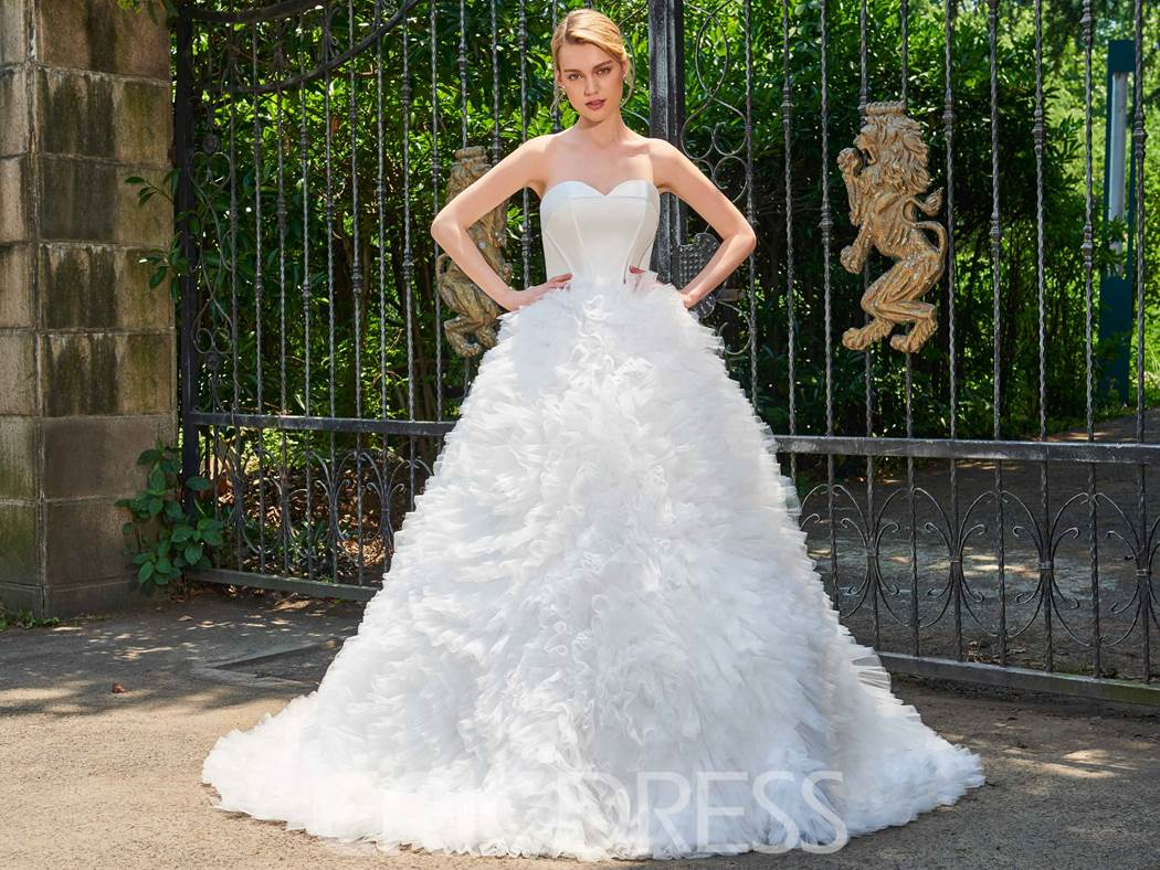 Ericdress Sweetheart Ball Gown Garden Wedding Dress