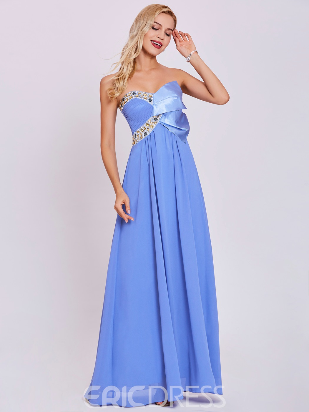 Ericdress Sweetheart Beaded A Line Evening Dress