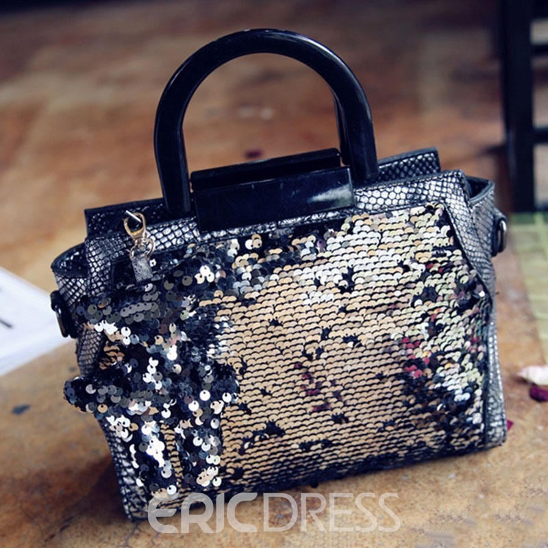 Ericdress Korean Style Fluorescent Sequins Design Handbag
