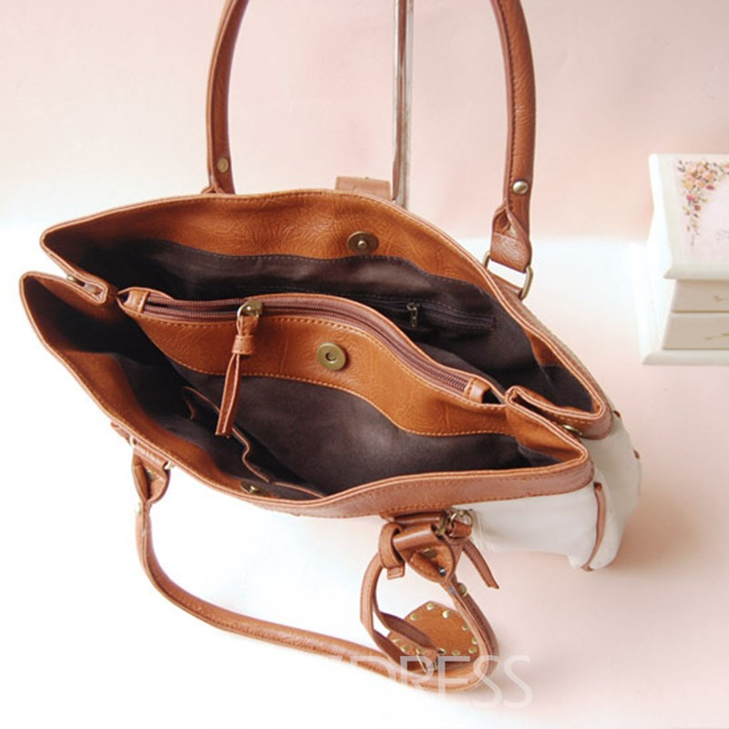 Ericdress Korean Style Patchwork Women Handbag