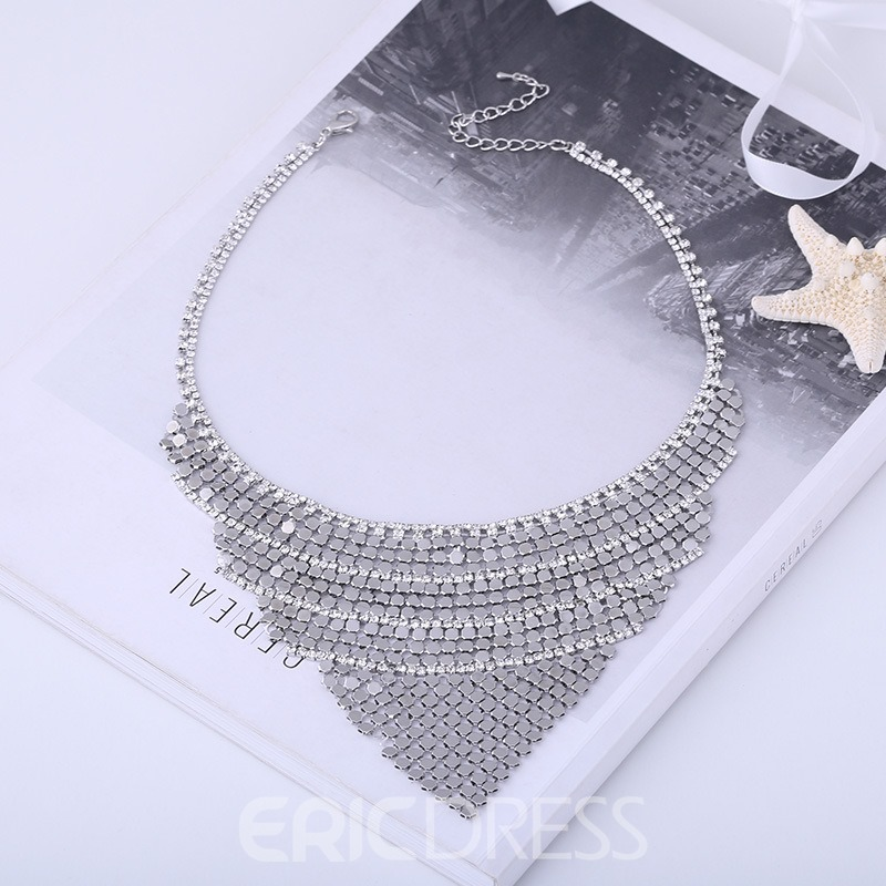 Ericdress Multilayer Fully Jewelled Women's Necklace