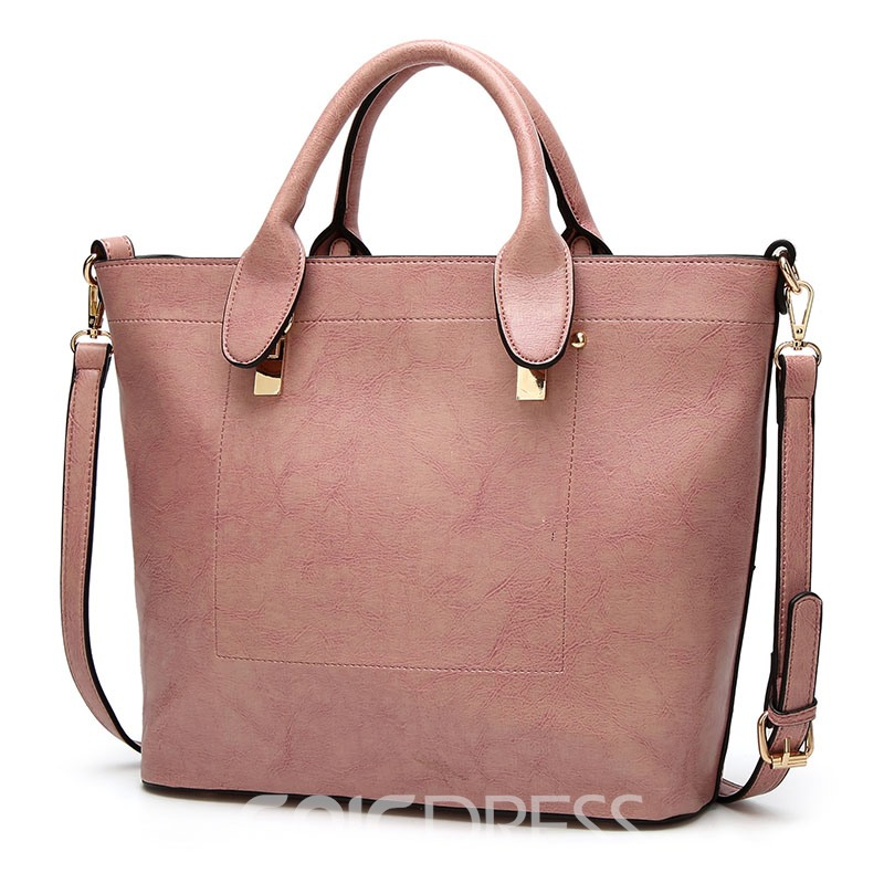 Ericdress Occident Style Solid Color Zipper Handbag