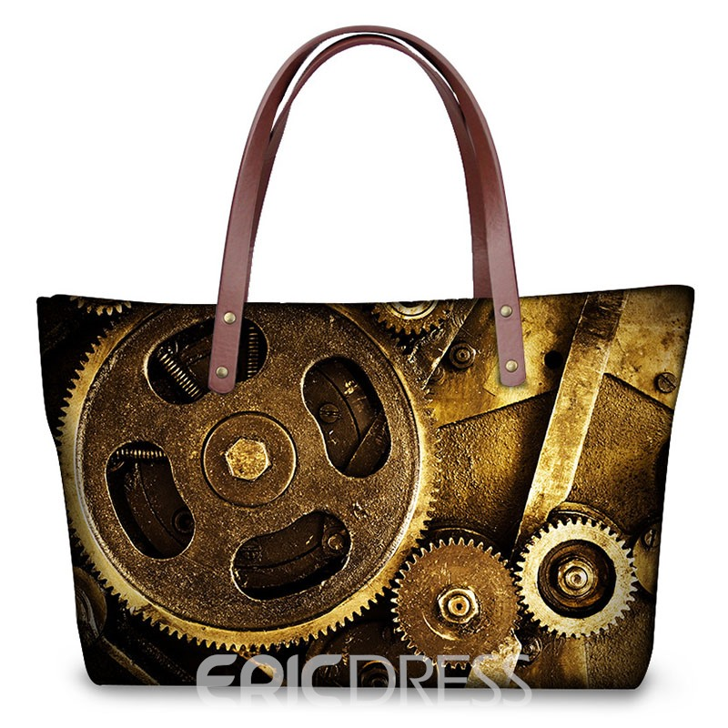 Ericdress Retro Gear Printing Pattern Handbag