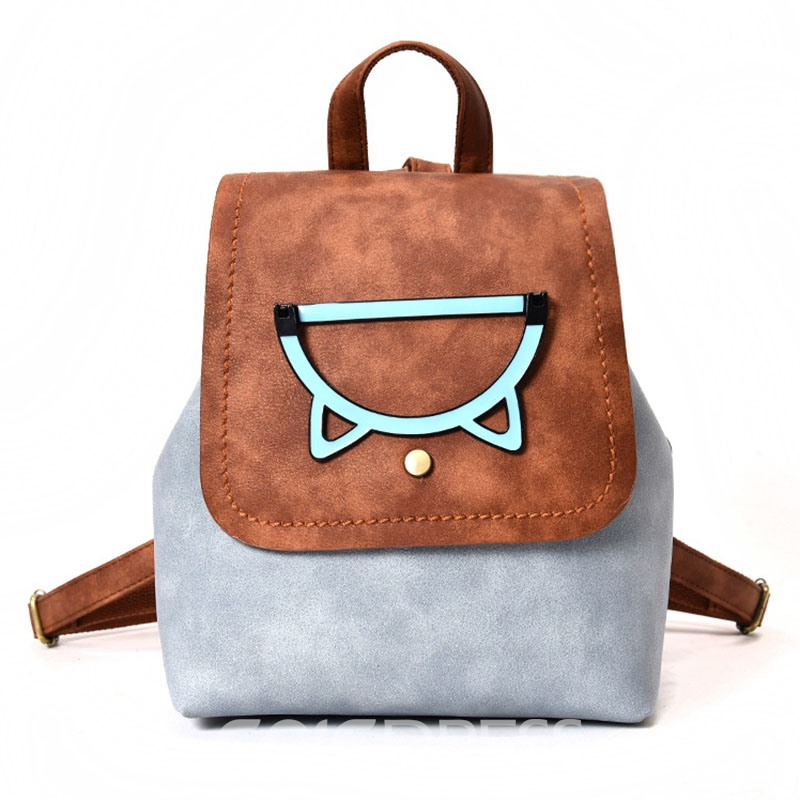 Ericdress Korean Style Color Block Women Backpack