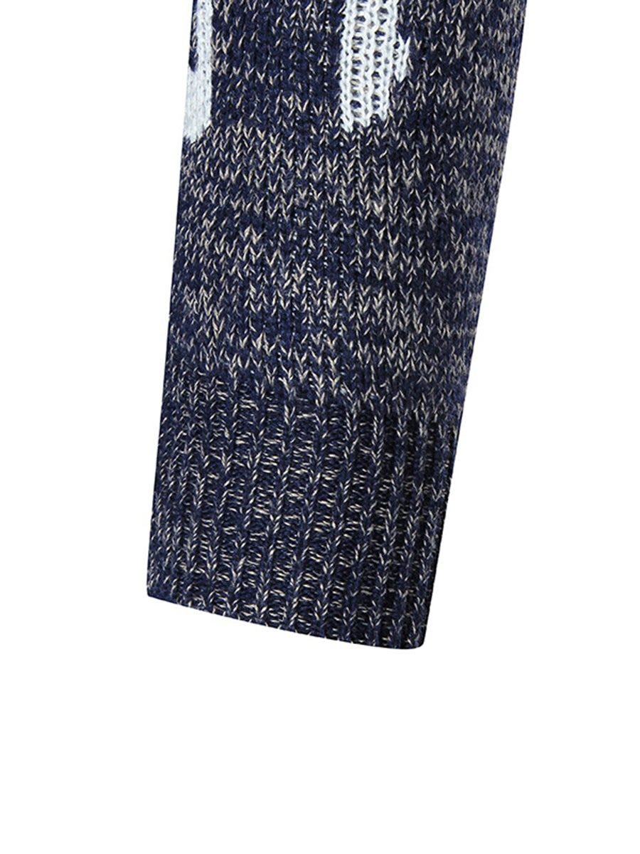 Ericdress Note Print Unique Casual Men's Sweater