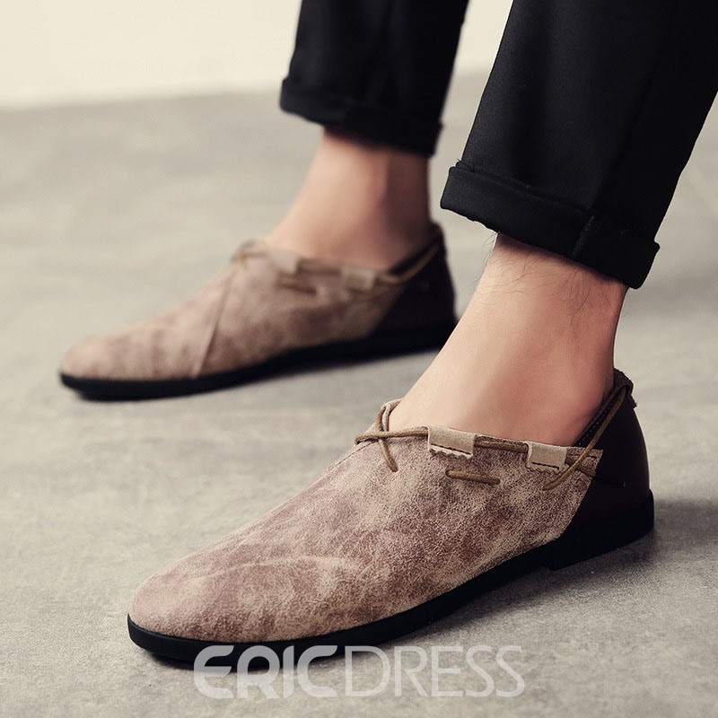 Ericdress Suede Slip-On Men's Oxfords