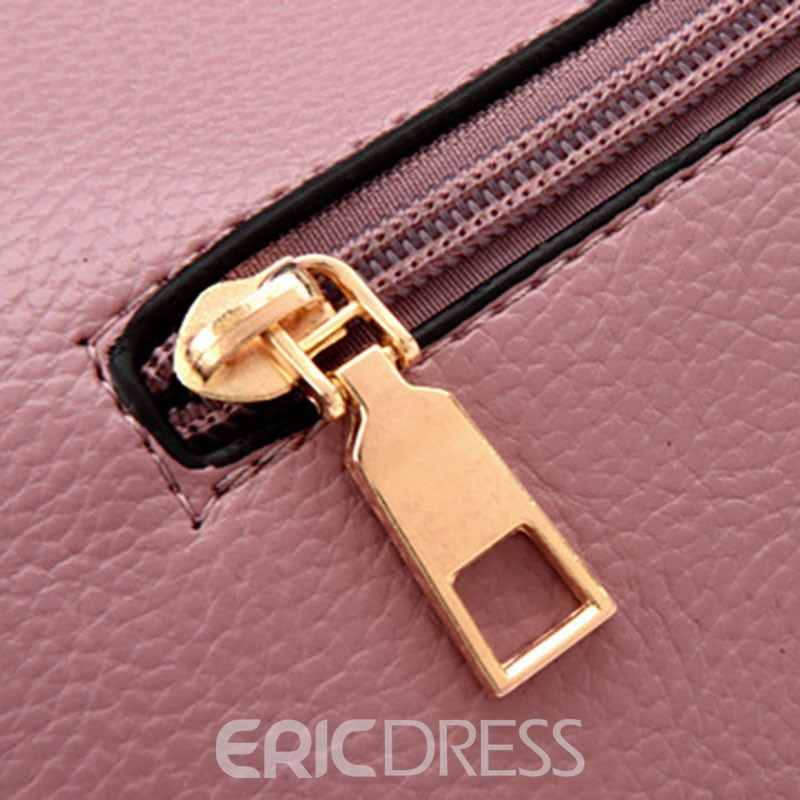 Ericdress Litchi Stria PU Women Handbag