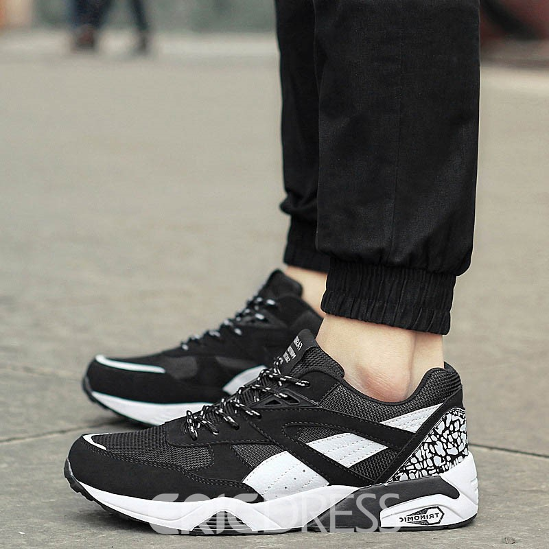Ericdress Fashionable Mesh Color Block Men's Athletic Shoes