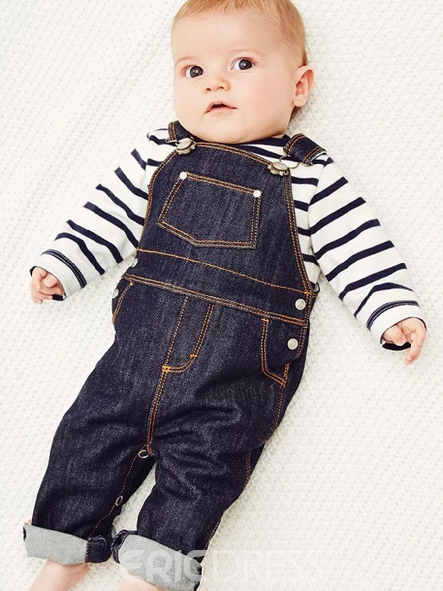 Ericdress Patchwork Print Stripe Hoodies & Rompers Baby Boy's Outfits