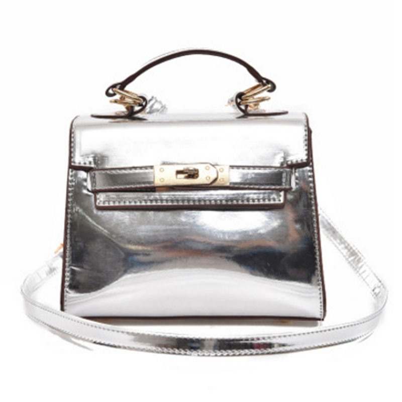Ericdress Glossy Solid Color Crossbody Bag