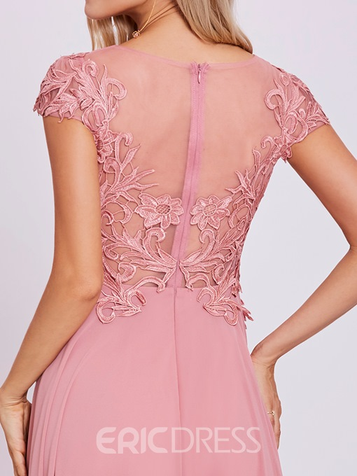 Ericdress Scoop Neck Lace Appliques A Line Evening Dress