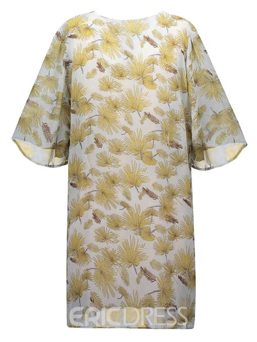 Ericdress Thin Wrapped Plant Print Women's Cape