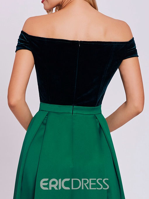 Ericdress A Line Off-the-Shoulder Long Evening Dress