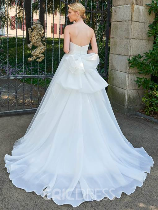 Ericdress Strapless Ball Gown Tulle Wedding Dress