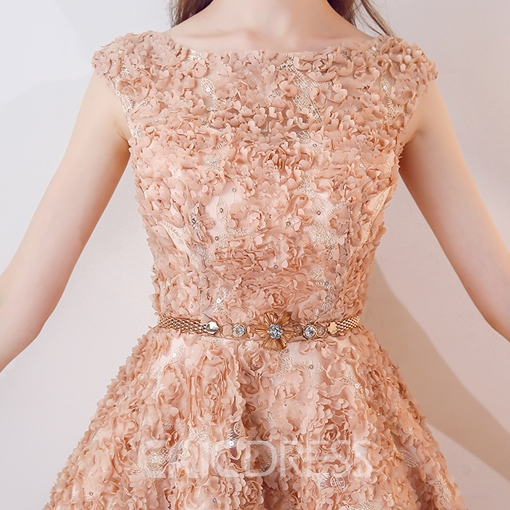 Ericdress A Line Cap Sleeve Lace Knee Length Homecoming Dress