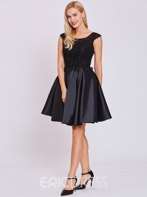 Ericdress A Line Scoop Neck Lace Appliques Homecoming Dress