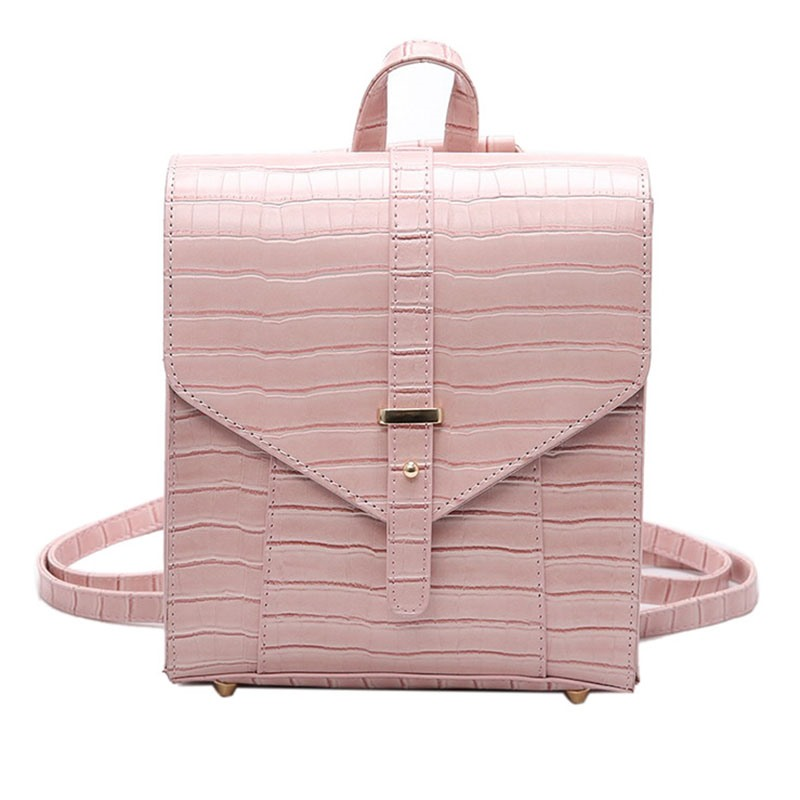 Ericdress Dual-Purpose Croco-Embossed Backpack