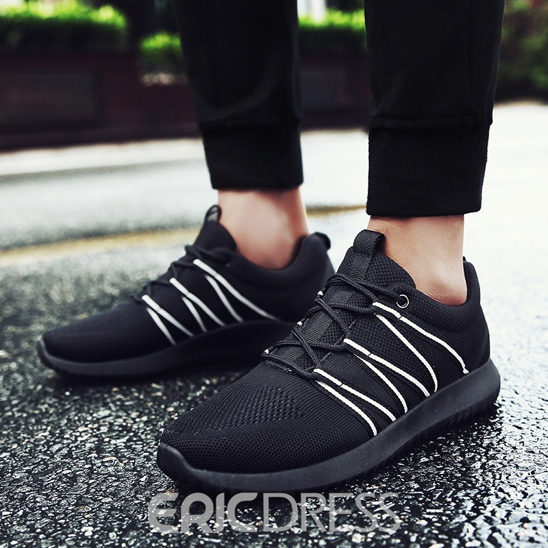 Ericdress Cotton Lace-Up Men's Sneakers