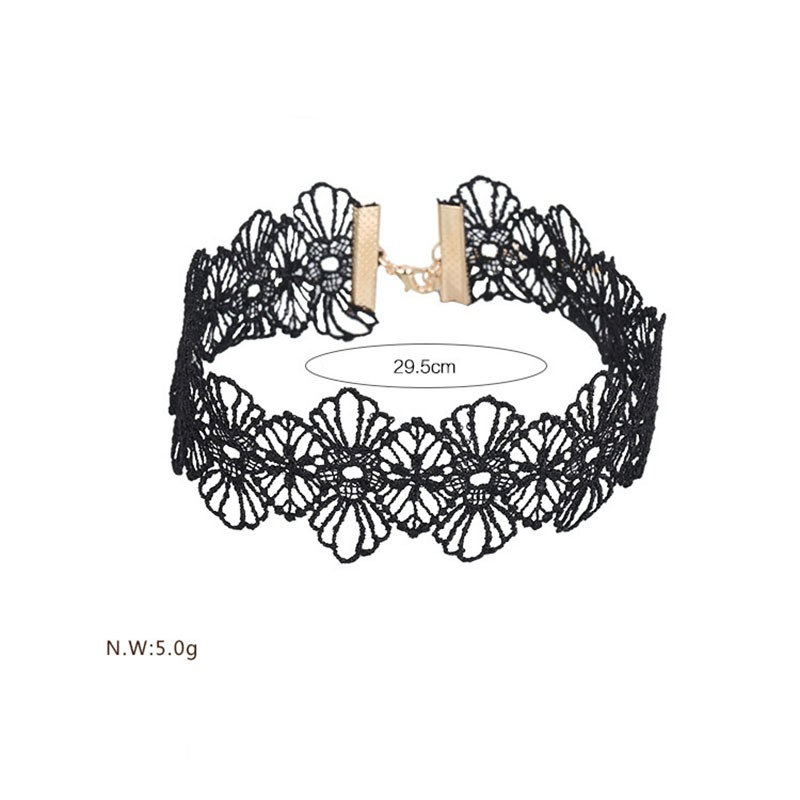 Ericdress All Match Black Lace Alluring Women's Choker