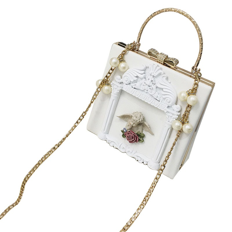 Ericdress Retro Angel Cameo Design Crossbody Bag