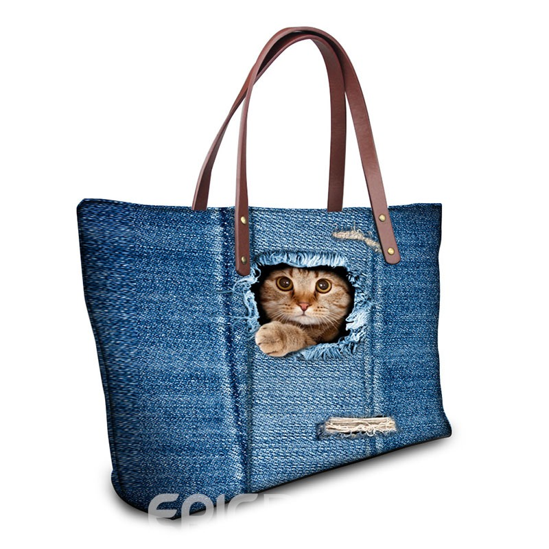 Ericdress Cute 3D Pet Nylon Zipper Handbag