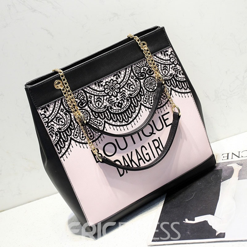 Ericdress Trendy Letter Design Crossbody Bag
