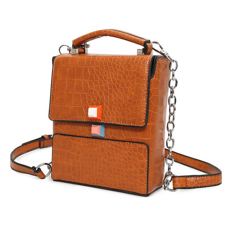Ericdress Croco-Embossed Vertical Type Crossbody Bag