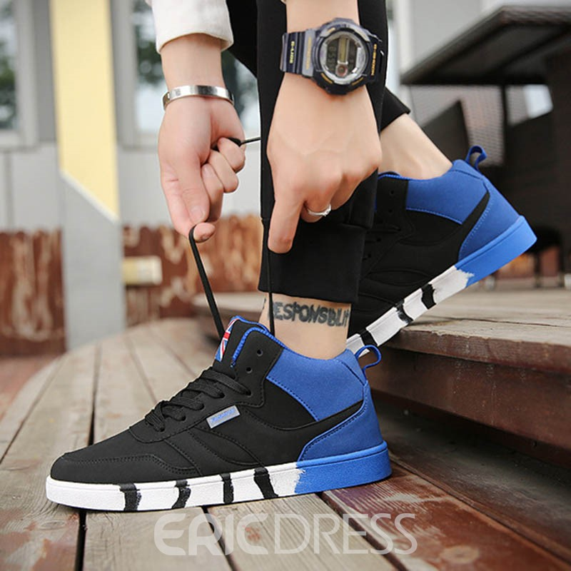 Ericdress High-Cut Color Block Men's Sneakers