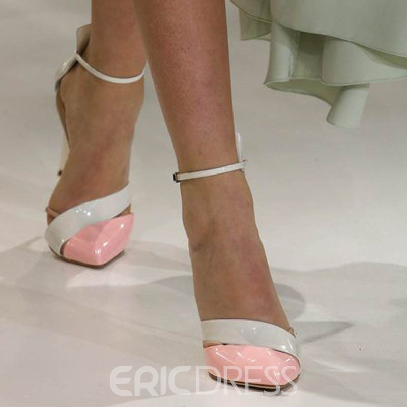Ericdress Pink Pointed Toe Stiletto Pumps