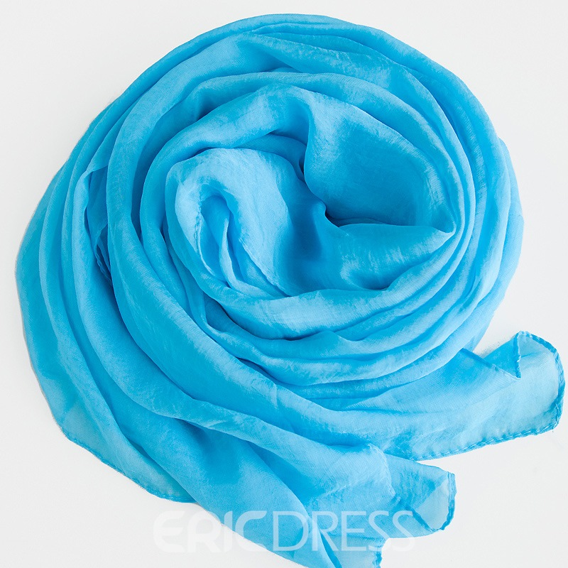 Ericdress Solid Color Chiffon Long Scarf for Women