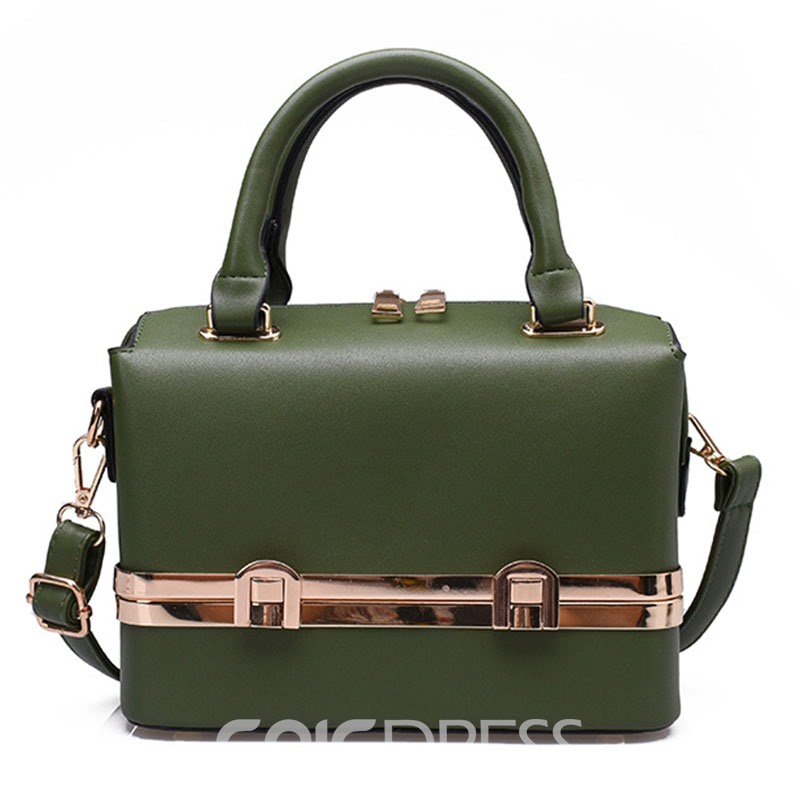 Ericdress Retro Personalized Metal Decoration Crossbody Bag