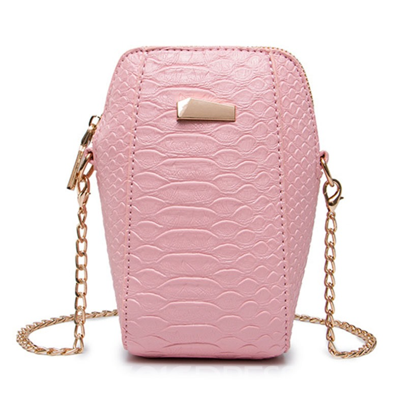 Ericdress Croco-Embossed Vertical Crossbody Bag