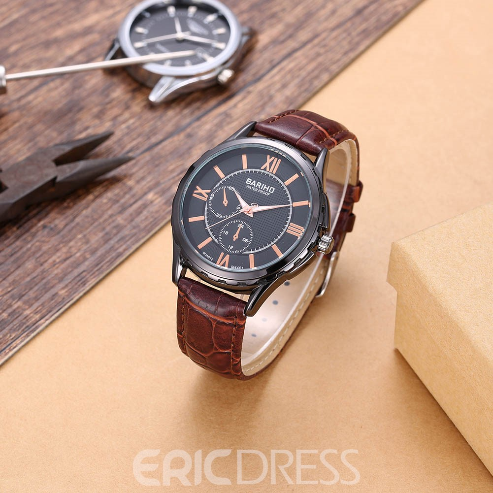 Ericdress Round Dial Waterproof Watch for Men