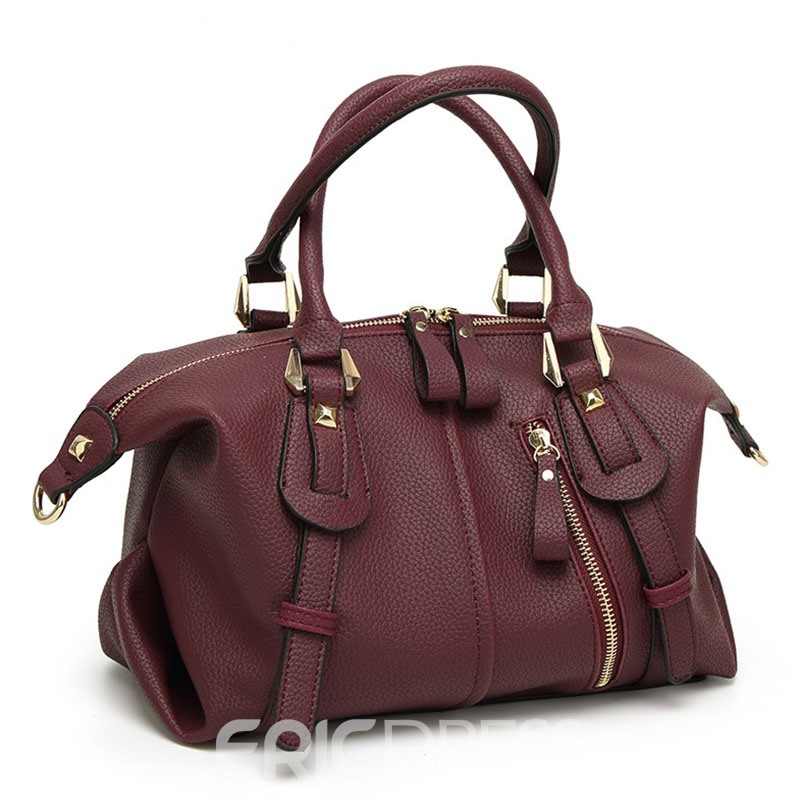 Ericdress All Match Solid Color Travelling Handbag