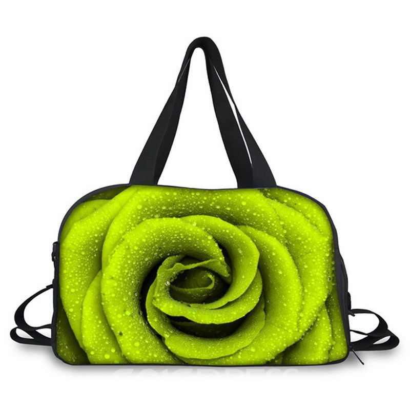 Eridress Floral Printing Canvas Gym Bag