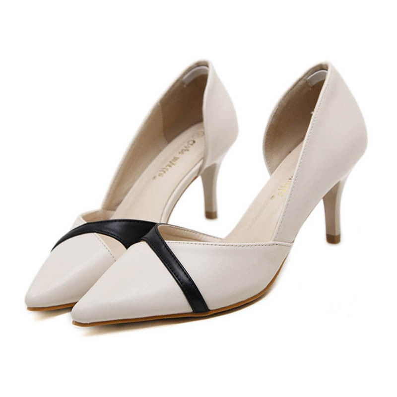 Ericdress Pointed Toe Color Block Stiletto Heel Pumps