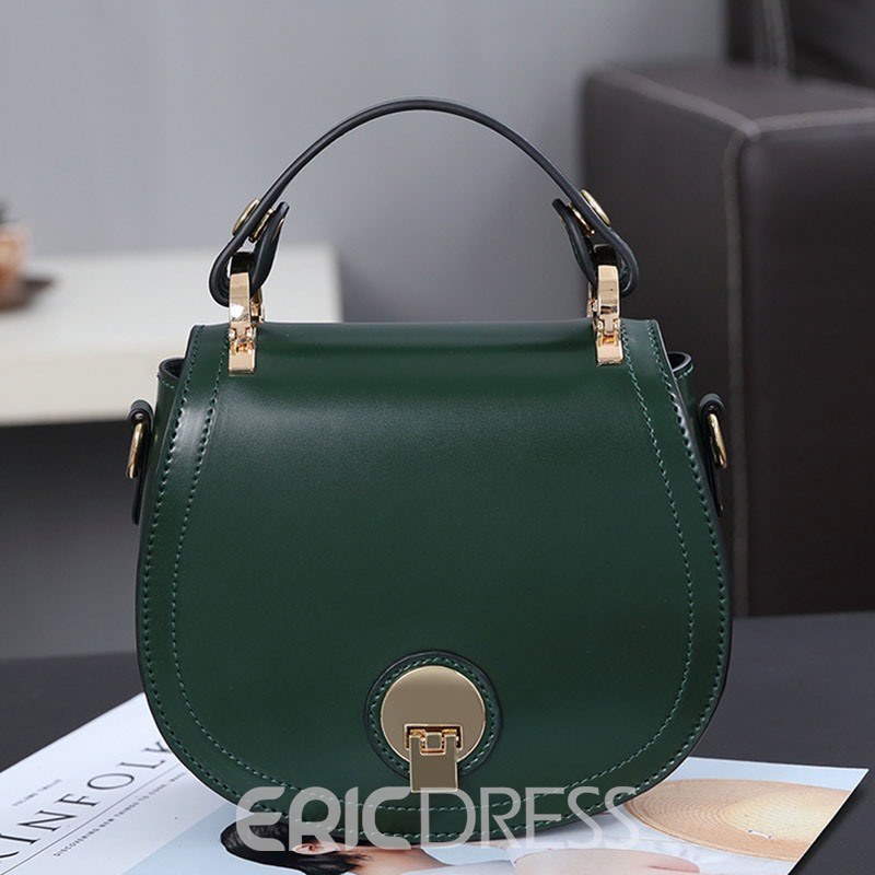 Ericdress Korean Style Oval Shape Lock Crossbody Bag