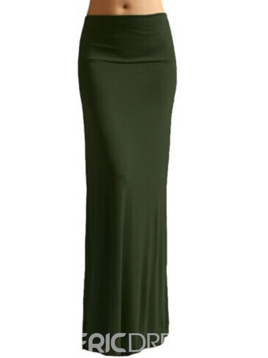 Ericdress Elastics Floor-Length Usual Skirts