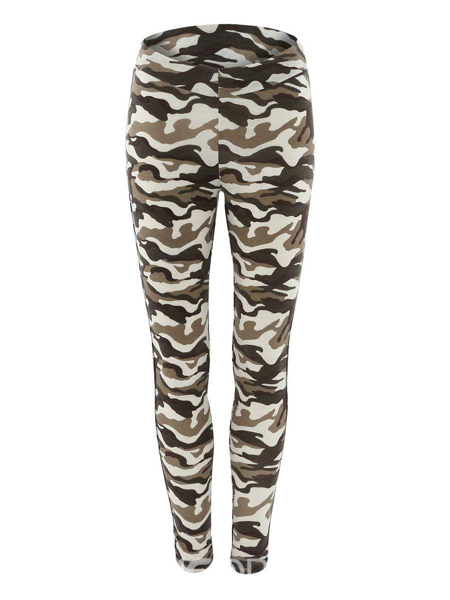 Ericdress Breathable Print Camouflage Polyester Running Fall Leggings