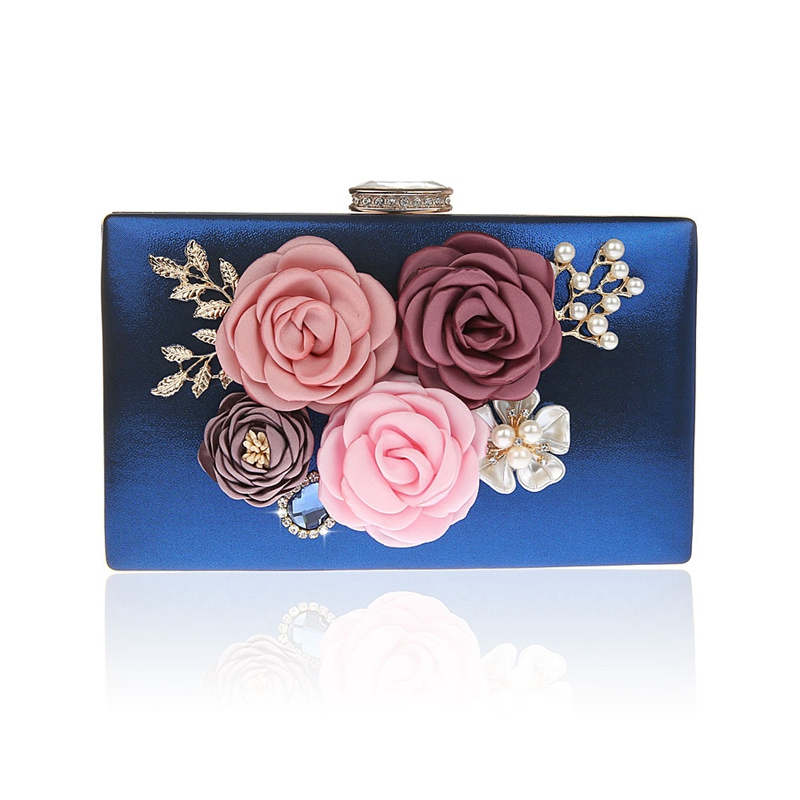 Ericdress Floral Rhinestone Adornment Mini Women Clutch