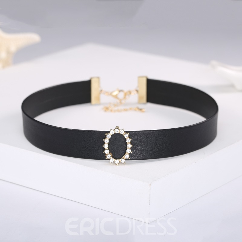 Ericdress Chic Diamante Black Choker for Women