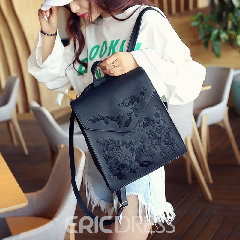 Ericdress Retro Embroidery Pattern Women Backpack