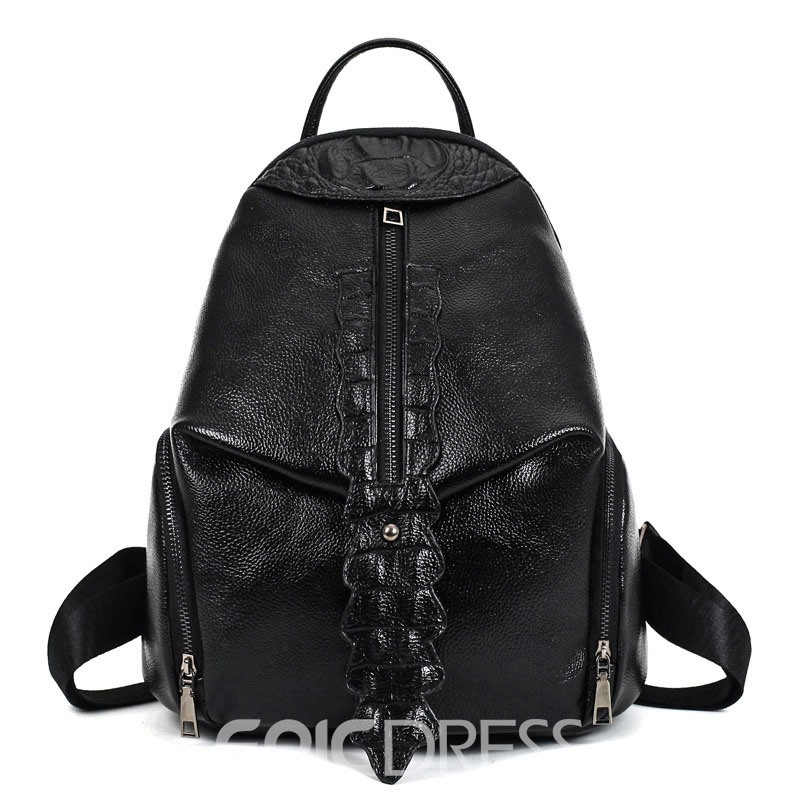 Ericdress Occident Style Croco-Embossed Backpack