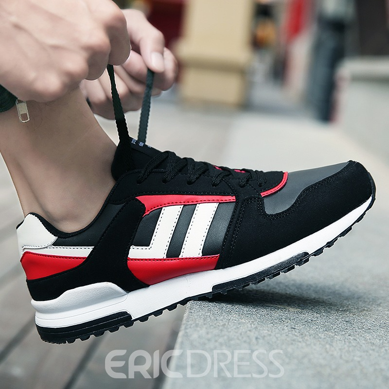 Ericdress Round Toe Mesh Color Block Men's Athletic Shoes