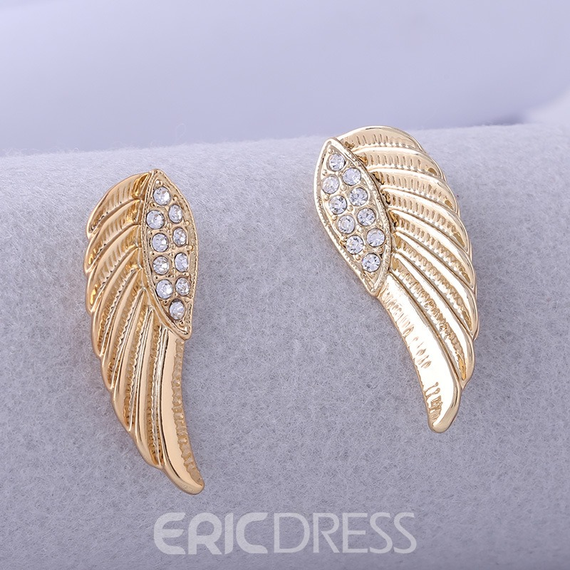 Ericdress Diamante Wing Women's Earring
