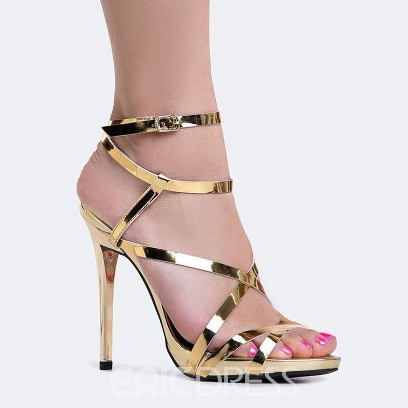 Ericdress Strappy Open Toe Stiletto Sandals