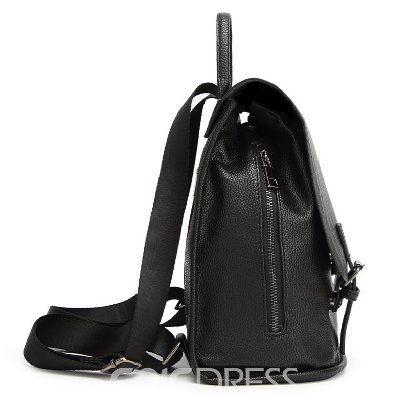 Ericdress Concise Croco-Embossed Backpack