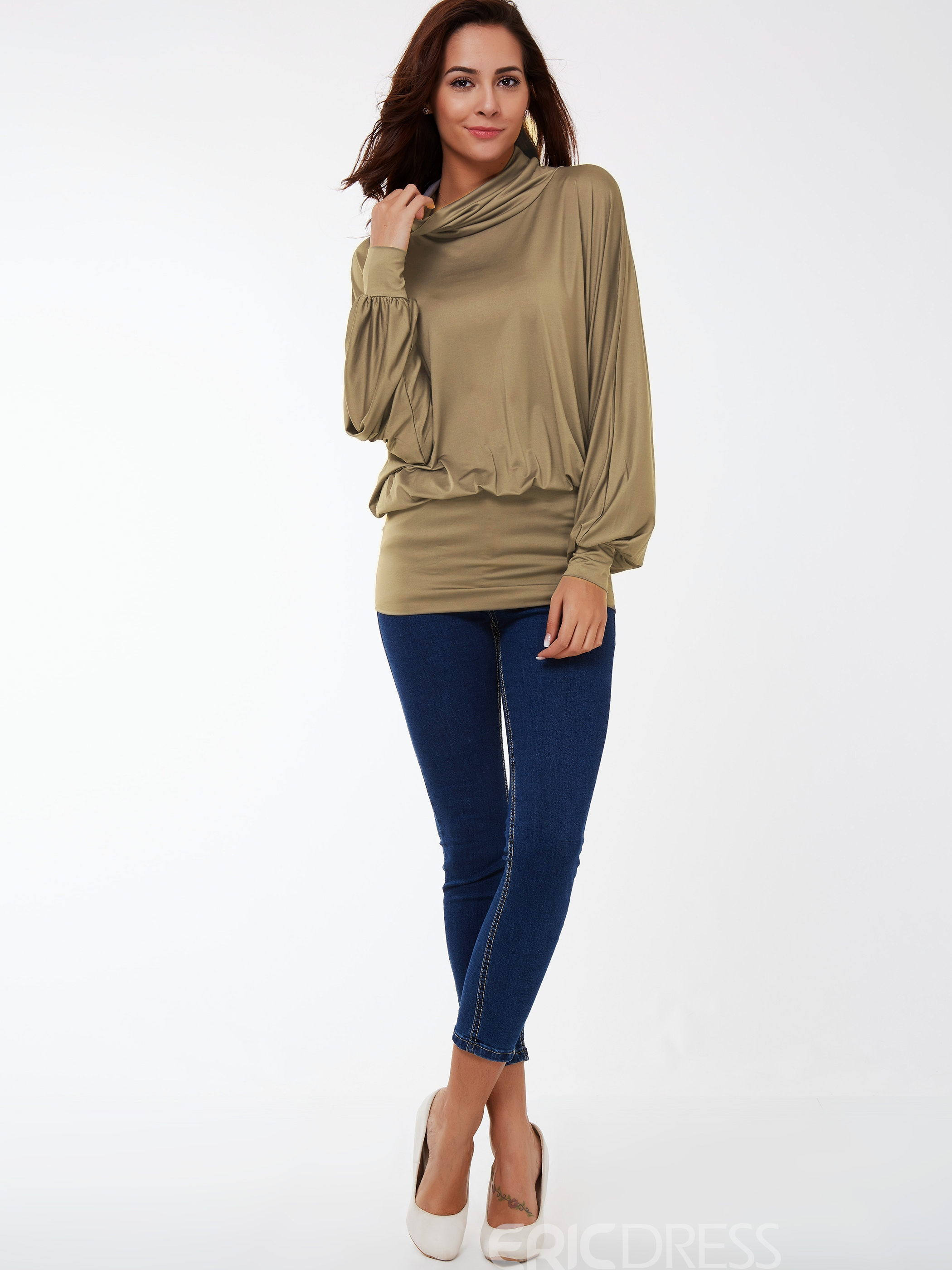 Ericdress Bat Sleeve Casual T-shirt