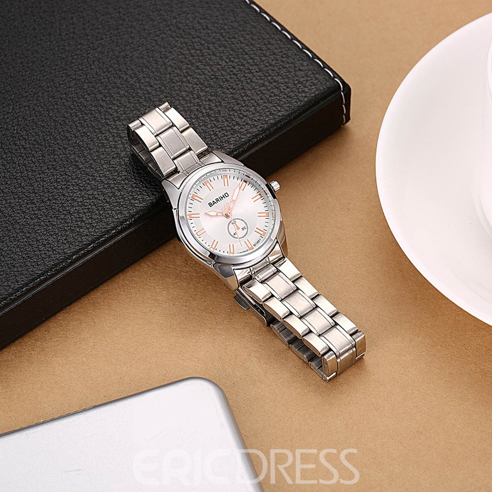 Ericdress Waterproof Stainless Steel Watch Band Trendy Men's Watch