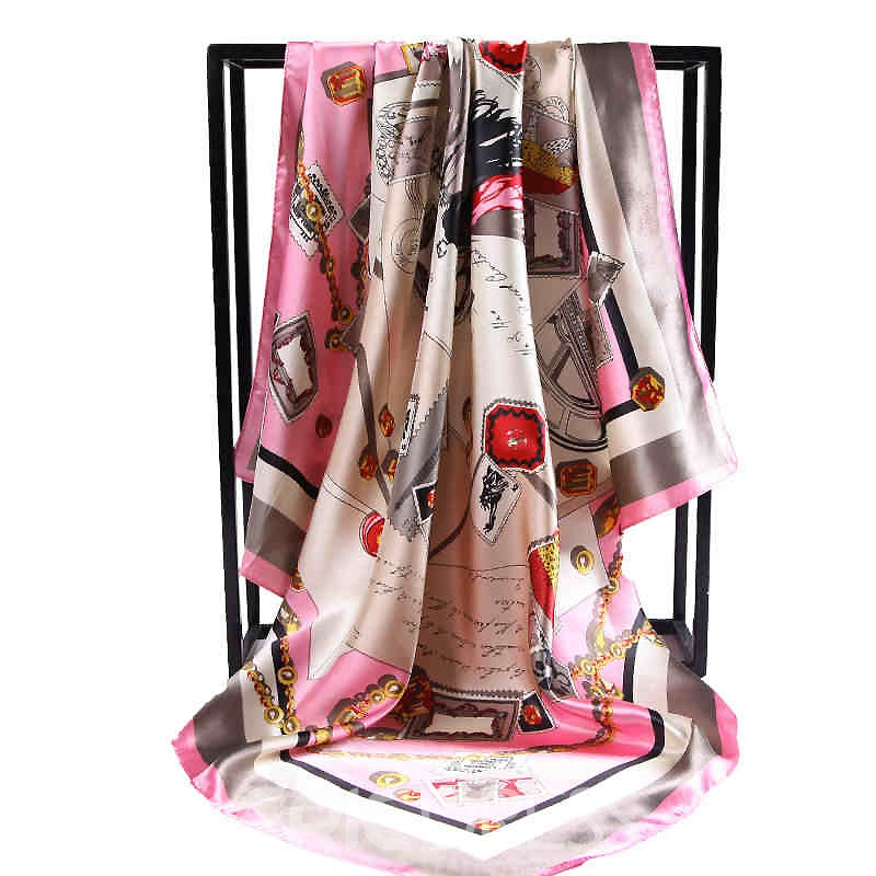 Ericdress High End Satin Elegant Printed Scarf for Women